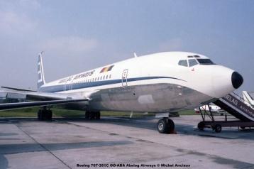 013 Boeing 707-351C OO-ABA Abelag Airways © Michel Anciaux