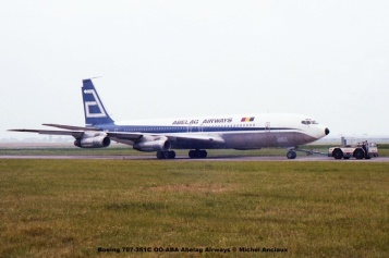 015 Boeing 707-351C OO-ABA Abelag Airways © Michel Anciaux