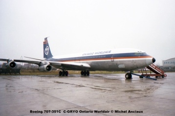 018 Boeing 707-351C C-GRYO Ontario Worldair © Michel Anciaux