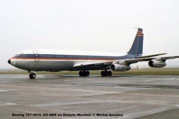 211 Boeing 707-351C OO-ABA ex Ontario Worldair © Michel Anciaux