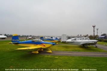 DSC_0059 CAS Van'S RV-9M CC-LYA & Beech A-45 Mentor CC-KXT