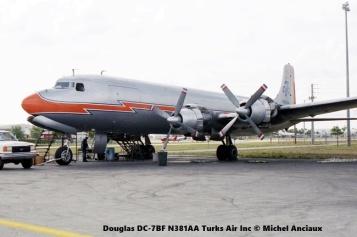 img568 Douglas DC-7BF N381AA Turks Air Inc © Michel Anciaux