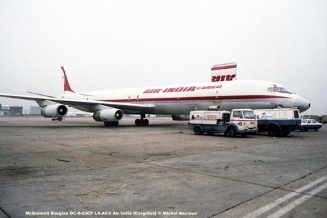 124 McDonnell Douglas DC-8-63CF LX-ACV Air India (Cargolux) © Michel Anciaux
