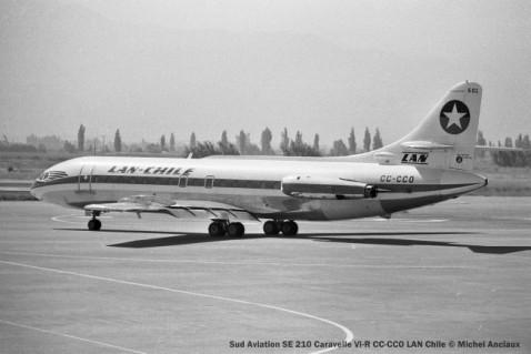 img133 Sud Aviation SE 210 Caravelle VI-R CC-CCO LAN Chile © Michel Anciaux