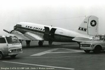 img188 Douglas C-47A CC-CBP LAN Chile © Michel Anciaux