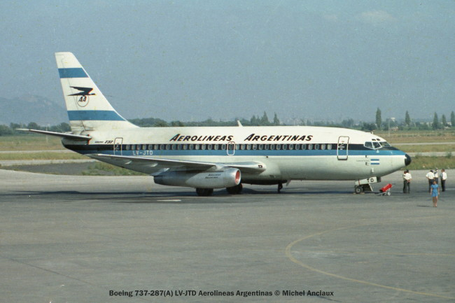 img231Boeing 737-287(A) LV-JTD Aerolineas Argentinas © Michel Anciaux