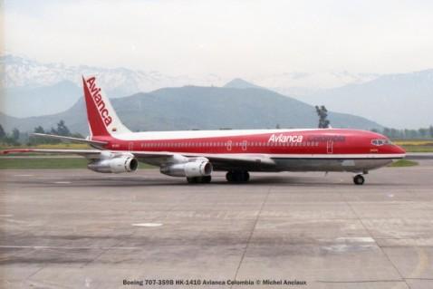 img498 Boeing 707-359B HK-1410 Avianca Colombia © Michel Anciaux