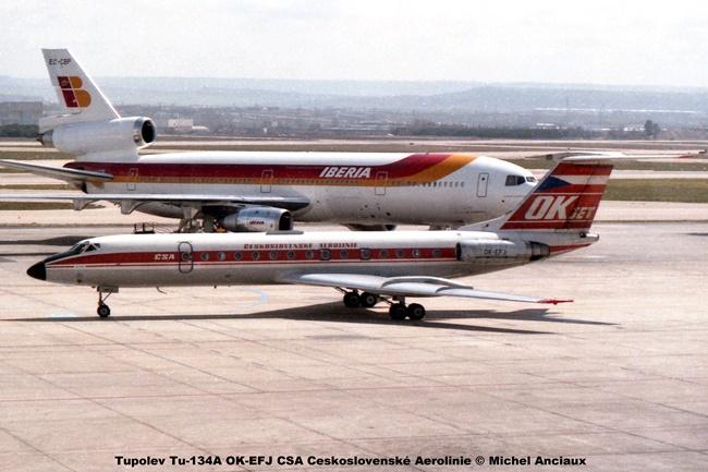 img498 Tupolev Tu-134A OK-EFJ CSA Ceskoslovenské Aerolinie © Michel Anciaux