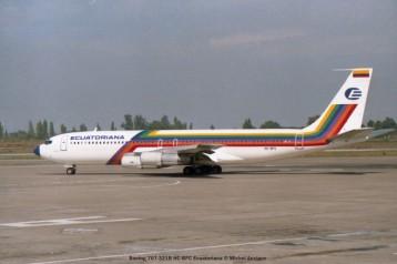 img555 Boeing 707-321B HC-BFC Ecuatoriana © Michel Anciaux