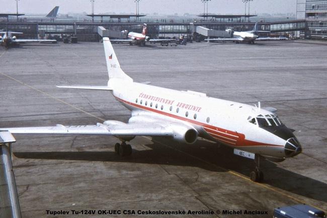 img930Tupolev Tu-124V OK-UEC CSA Ceskoslovenské Aerolinie © Michel Anciaux