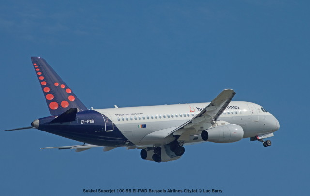 002 Sukhoi Superjet 100-95 EI-FWD Brussels Airlines-CityJet © Luc Barry