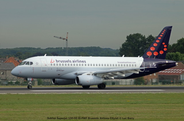 003 Sukhoi Superjet 100-95 EI-FWF Brussels Airlines-CityJet © Luc Barry