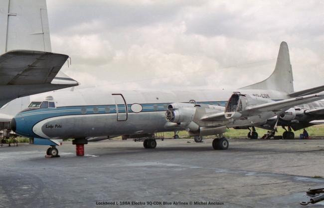 004 Lockheed L-188A Electra 9Q-CDK Blue Airlines © Michel Anciaux