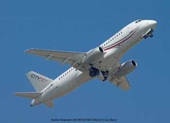 007 Sukhoi Superjet 100-95 EI-FWC CityJet © Luc Barry