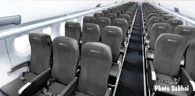 008 Cabin Superjet 100 CityJet © Sukhoi