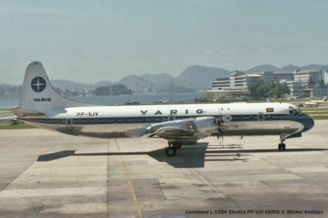 008 Lockheed L-188A Electra PP-VJV VARIG © Michel Anciaux