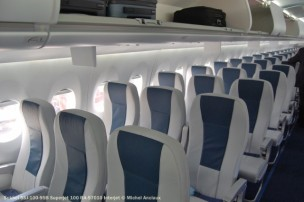 010 Pax cabin of Superjet 100 RA-97010 Interjet © Michel Anciaux