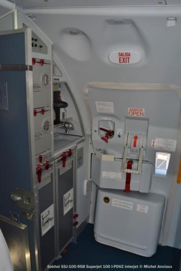 012 Cabin of Sukhoi SSJ-100-95B Superjet 100 I-PDVW Interjet © Michel Anciaux