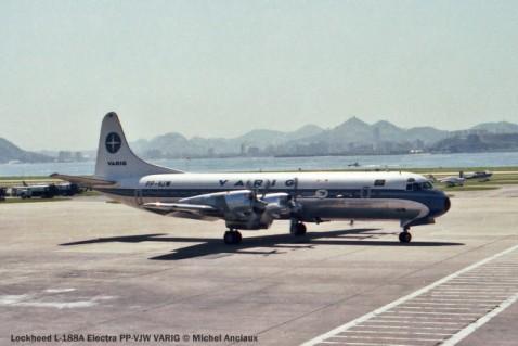 012 Lockheed L-188A Electra PP-VJW VARIG © Michel Anciaux