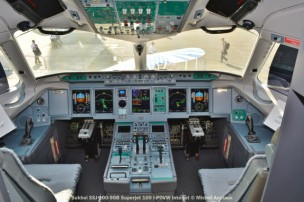 017 Cockpit of Sukhoi SSJ-100-95B Superjet 100 I-PDVW Interjet © Michel Anciaux