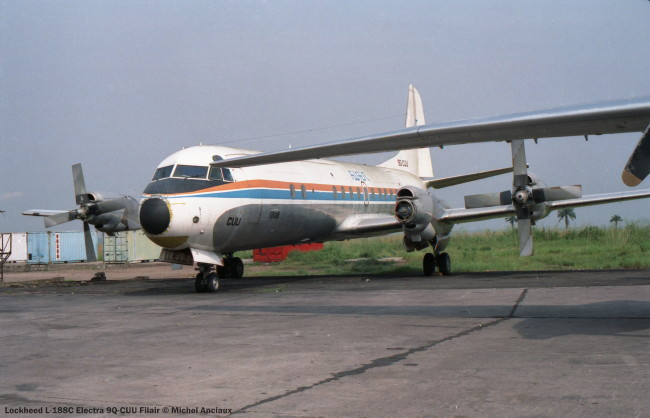 020 Lockheed L-188C Electra 9Q-CUU Filair © Michel Anciaux