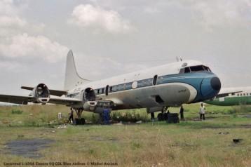 025 Lockheed L-188A Electra 9Q-CDL Blue Airlines © Michel Anciaux