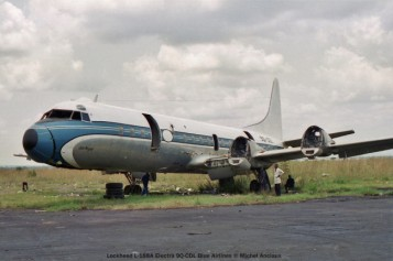 026 Lockheed L-188A Electra 9Q-CDL Blue Airlines © Michel Anciaux