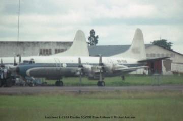 034 Lockheed L-188A Electra 9Q-CDG Blue Airlines © Michel Anciaux