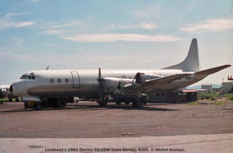 035 Lockheed L-188A Electra 9Q-CRM Trans Service Airlift © Michel Anciaux