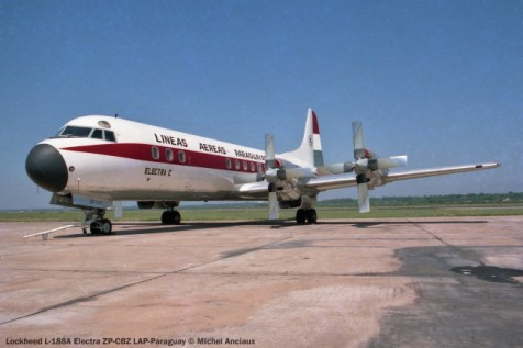 040 Lockheed L-188A Electra ZP-CBZ LAP-Paraguay © Michel Anciaux