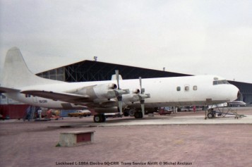 050 Lockheed L-188A Electra 9Q-CRR Trans Service Airlift © Michel Anciaux