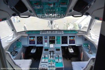 051 Cockpit of Sukhoi SSJ-100-95LR Superjet 100 RA-89034 UTair © Michel Anciaux
