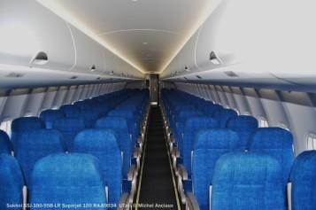 052 Pax cabin of Sukhoi SSJ-100-95LR Superjet 100 RA-89034 UTair © Michel Anciaux