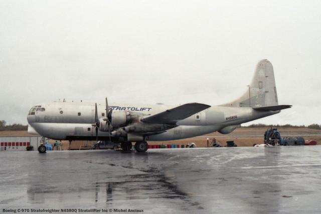 917 Boeing C-97G Stratofreighter N4580Q Stratoilifter Inc © Michel Anciaux