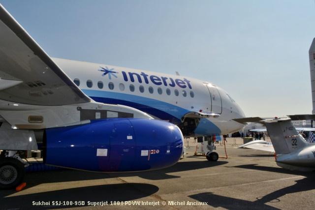 DSC_0965 Sukhoi SSJ-100-95B Superjet 100 I-PDVW Interjet © Michel Anciaux