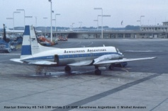 img028 Hawker Siddeley HS-748-105 series 1 LV-HHE Aerolineas Argentinas © Michel Anciaux