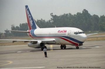 img624 Boeing 737-2M6(A) CC-CYW LAN Chile © Michel Anciaux
