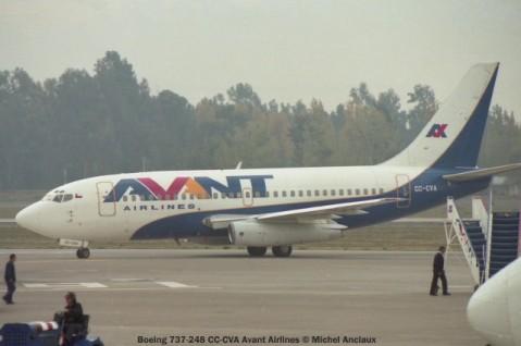 img700 Boeing 737-248 CC-CVA Avant Airlines © Michel Anciaux
