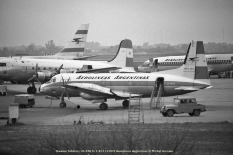 img753 Hawker Siddeley HS-748 Sr 1-105 LV-HHE Aerolineas Argentinas © Michel Anciaux