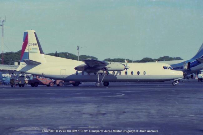 img776 Fairchild FH-227D CX-BIM ''T-572'' Transporte Aereo Militar Uruguayo © Alain Anciaux