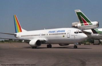img807 Boeing 737-4Y0 PT-TEO Trans Brasil © Michel Anciaux