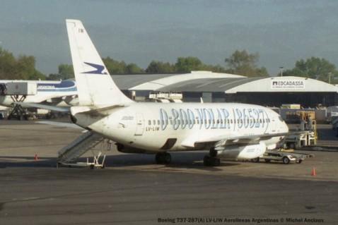 img828 Boeing 737-287(A) LV-LIW Aerolineas Argentinas © Michel Anciaux