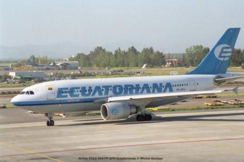 img906 Airbus A310-304 PP-SFH Ecuatorianas © Michel Anciaux