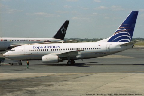 img912 Boeing 737-71Q HP-1370CMP COPA Airlines © Michel Anciaux