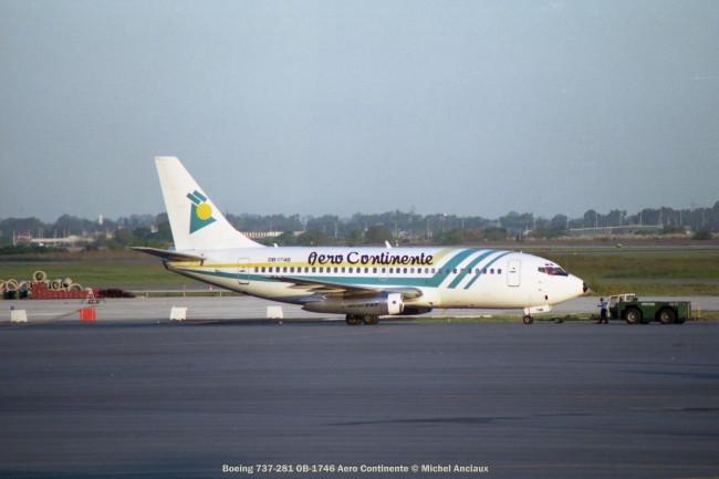 img945 Boeing 737-281 OB-1746 Aero Continente © Michel Anciaux