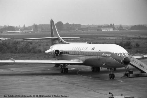 001 Sud Aviation SE-210 Caravelle III OO-SBQ Sobelair © Michel Anciaux