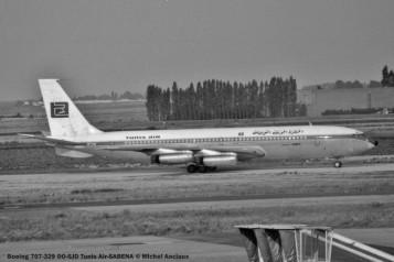 011 Boeing 707-329 OO-SJD Tunis Air-SABENA © Michel Anciaux
