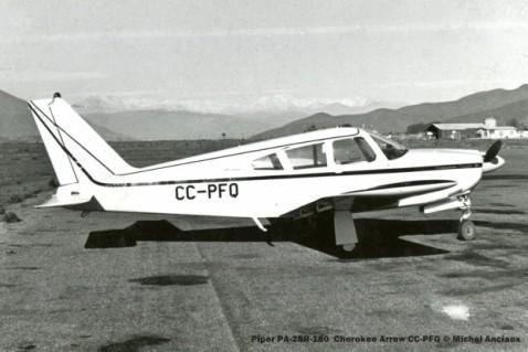 011 Piper PA-28R-180 Cherokee Arrow CC-PFQ © Michel Anciaux