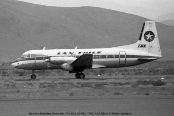 019 Hawker Siddeley (Avro) HS. 748 Sr 2 CC-CEC ''741'' LAN Chile © Michel Anciaux