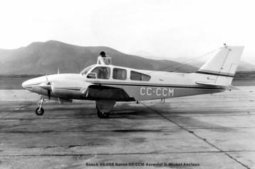 021 Beech 95-C55 Baron CC-CCM Aerovial © Michel Anciaux